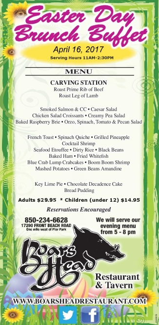 Easter Brunch Buffet 2017-The Boar's Head Restaueant PCB