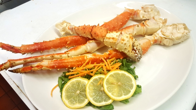 Beautiful Alaskan King Crab Legs Boars Head Restaurant PCB.jpg
