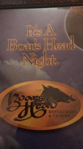 Its A Boar's Head Night-Nate Best Prime Rib Boars Head Restaurant PCB