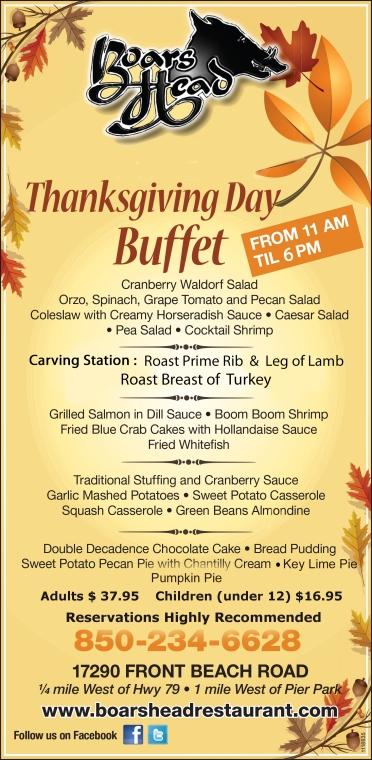 Thanksgiving Day Buffet-Boars Head Restaurant PCB