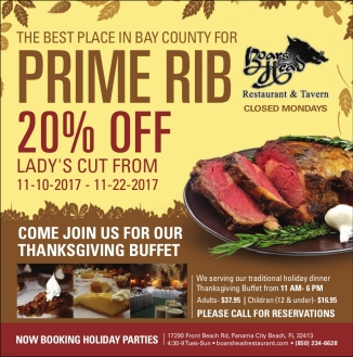 Special Offer-Prime Rib-Boars Head Restaurant PCB