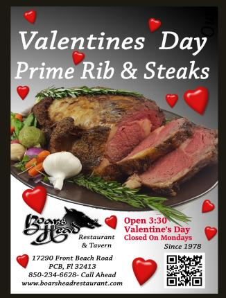 Valentines Day-Panama City Beach-Boars Head Restaurant